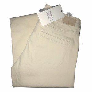 NWT Zara Basic Khaki Wide Leg Jeans 4 34